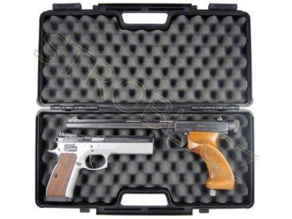 Plastový kufr na pistoli 44,5cm x 19,3cm x 8cm
