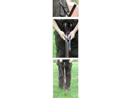 Dvojitý zádový řemen na zbraň