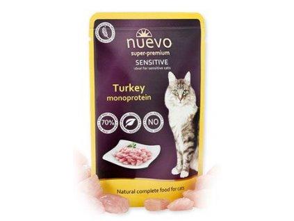 Nuevo kočka kapsa sensitive Krůtí monoprotein 85g