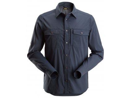 Košile funkční LiteWork s dlouhým rukávem tmavě modrá XS Snickers Workwear