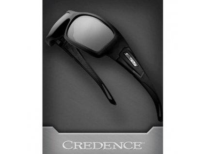 Ochranné brýle ESS, Credence, kouřově-šedé, balistická odolnost, černý rám