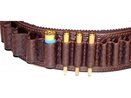Nábojový pás zdobený otevřený z hověziny - hlazenice*