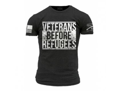 Tričko Grunt Style, Vets before refugees, vel.: XL