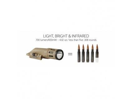 Svítilna Infroce,WMLx White/IR, LED,700lm/IR 400mW, váha:113,4g, zdroj:Lithium CR123a, FDE