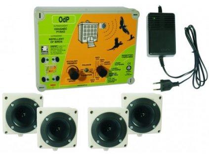 OdP- plašič ptáků - OdP-4 Ultrazvukový odháněč ptáků se 4 reproduktory