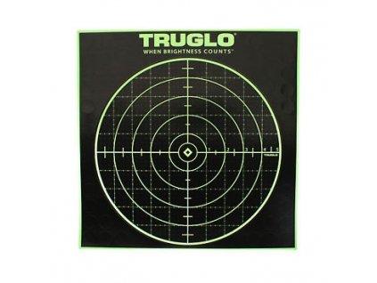Terče Truglo, reflexní, 100yds, 12x12, s vyznačením zásahu, 12ks v balení