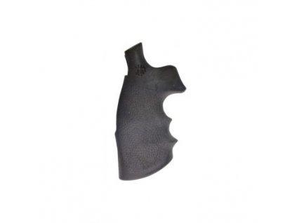 Střenky Hogue, pro revolvery SW, rám N, pryžové, černé