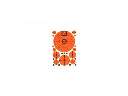 Terče Lyman, Match Target, fluorescenční, balení 10ks