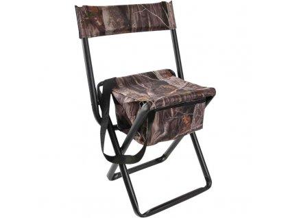 Rozkládací židle Allen, s opěradlem a úložným prostorem, 35,5cmx42,5cmx73,5cm, camo