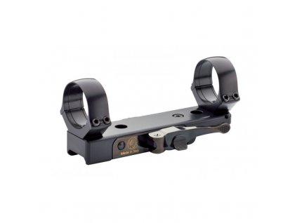Montáž Contessa, jednodílná na Weaver/Picatinny, rychoupínací, kroužky 30mm, H 5mm, černá