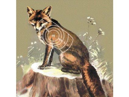 Vzduchovkový terč - liška