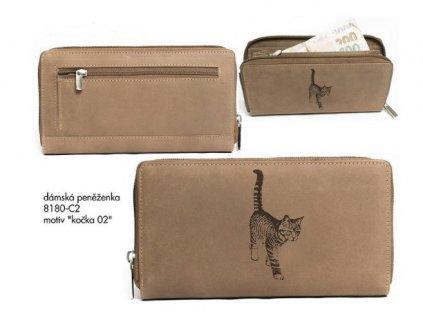 """Dámská peněženka 8180 """"kočka02"""""""