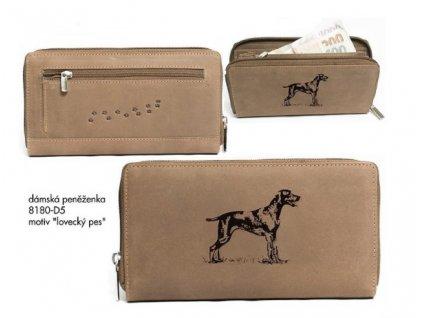 """Dámská peněženka 8180 """"lovecký pes"""""""
