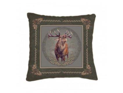 Polštář zelený - jelen troubící*