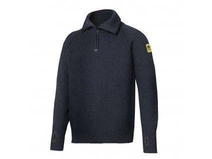 Vlněný svetr s ½zipem