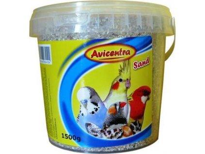Avicentra písek pro ptáky s mušlemi - 1,5kg kyblík