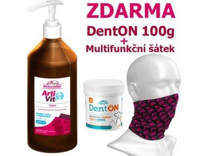 VITAR Veterinae ArtiVit Sirup 1000ml+DentON100g+šátek