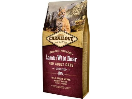 Carnilove Cat Adult Lamb & Wild Boar Grain Free Sterilised 6 kg