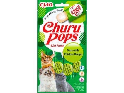 Inaba Churu Pops cat snack tuňák a kuře 4x15 g