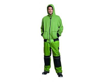Mikina s kapucí Stanmore zelená, 300 g/m2 XXXL