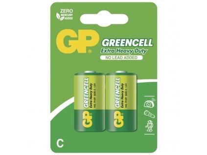 Zinkochloridová baterie GP Greencell R14 (C), blistr