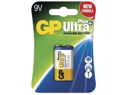 Alkalická baterie GP Ultra Plus 6LF22 (9V), blistr