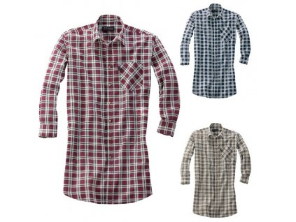 Prodloužená flanelová košile MONTANA