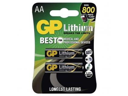 GP baterie lithiová FR6 (AA, tužka), blistr