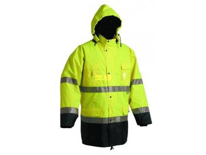 Zimní nepromokavá bunda MALABAR reflexní, odepínací zimní vložka XXXL
