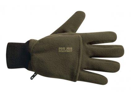 Lovecké rukavice fleece s krytkou prstů