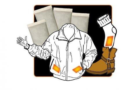 Ohřívač rukou - jednorázové hřející polštářky