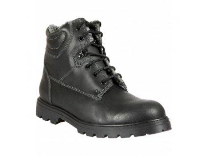Kožená zimní obuv PRABOS POHORKA POLICIE, zateplená beránkem
