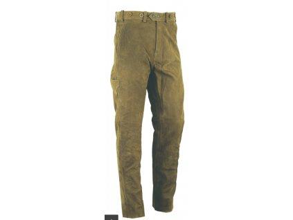 Kožené kalhoty zelené Wild klasika