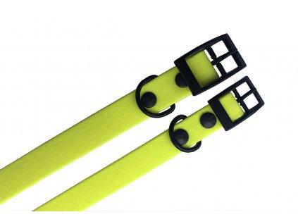 Obojek voděodolný 35cm/16mm (neonově žlutý)