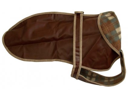 Kabátek umělá kůže 65cm