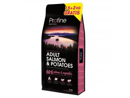 NEW Profine Adult Salmon & Potatoes 15kg + 3kg ZDARMA