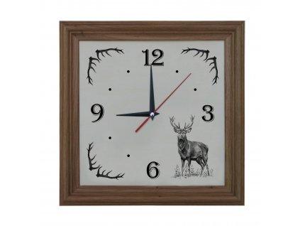 981 hodiny jelen nový světlý rám