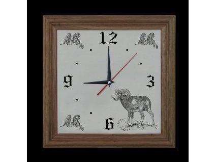 984 hodiny muflon světlý rám