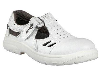 Komfortní pracovní sandál české značky PRABOS vyrobený z vysoce kvalitní hovězinové lícové usně.