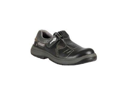 Celokožený pracovní sandál PRABOS RICHARD , černý