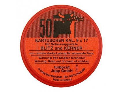 Jateční náboje 9mm BLITZ KERNER červené 50ks