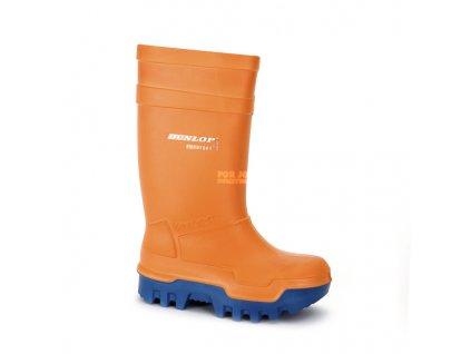 DUNLOP bezpečnostní holínky PUROFORT THERMO+ S5, oranžové, do 50°C