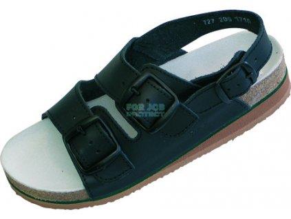 Dámský anatomický sandál TIPA hnědý 42