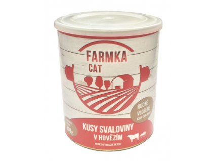 FARMKA CAT se svalovinou 800g/8ks