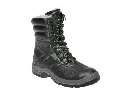Bezpečnostní zimní poloholeňová obuv ADAMANT S3 s ocelovou špicí a planžetou