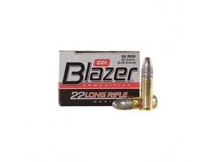 Náboj kulový CCI, Blazer High Velocity, .22 LR, 40GR, Solid
