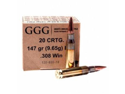 Náboj kulový GGG, Classic, .308 Win, 147GR, FMJ