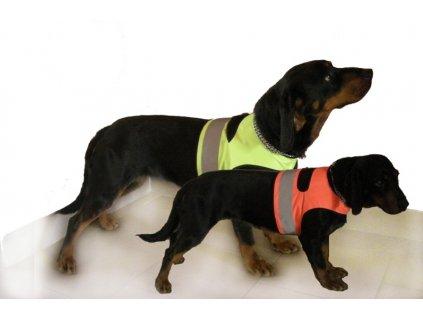 Reflexní návlek pro psy - žlutý