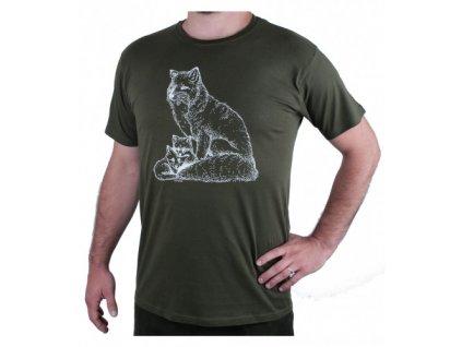 Zelené myslivecké tričko AFARS lišky