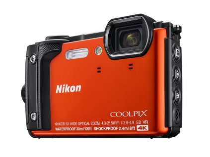 NIKON COOLPIX W300 Orange + 2 in 1 plovoucí popruh